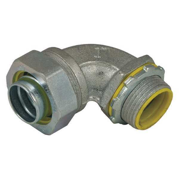 Raco Insulated Connector,  1 In.,  Malleable Iron,  Style - Connector: 90 Degrees 3544