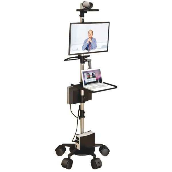 """Afc Industries Laptop and Monitor Cart, 84"""" H x 31"""" W MPC_200_84_LP_1F_2C_00_HS0_01"""