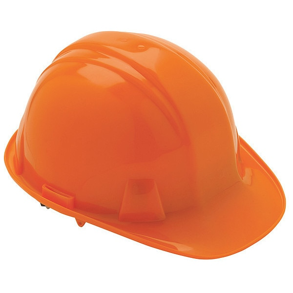 Condor Front Brim Hard Hat,  Type 1,  Class E,  Ratchet (4-Point),  Orange 52LC99