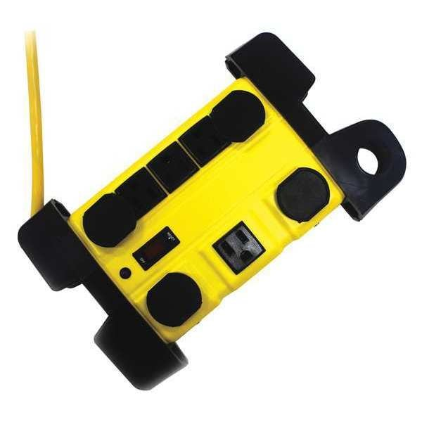 Power First Surge Protector Outlet Strip, Yellow 52NY58