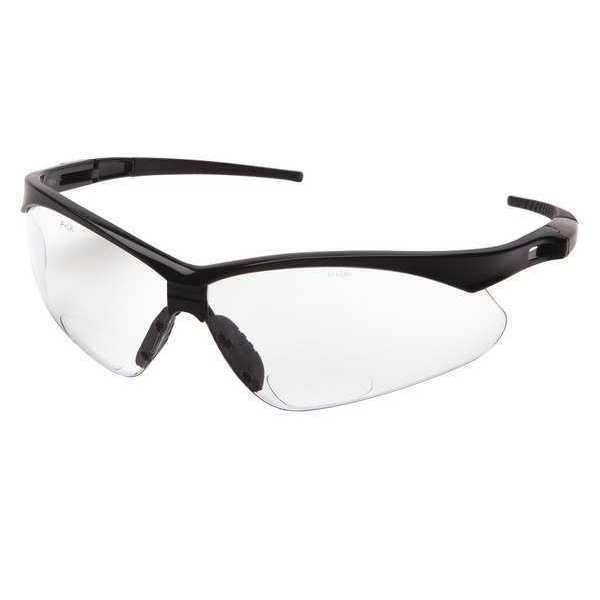 Condor Safety Reading Glasses, +2.50, Clear,  Scratch-Resistant 52YP39