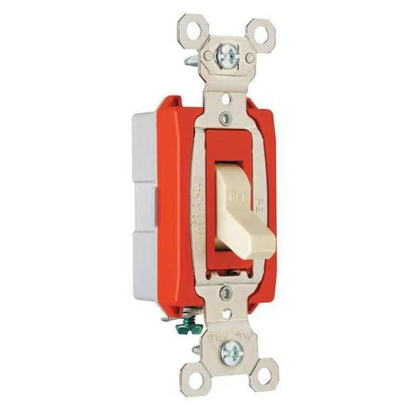 Legrand Wall Switch,  1-Pole Switch Type,  20A,  Color: Ivory PS20AC1I