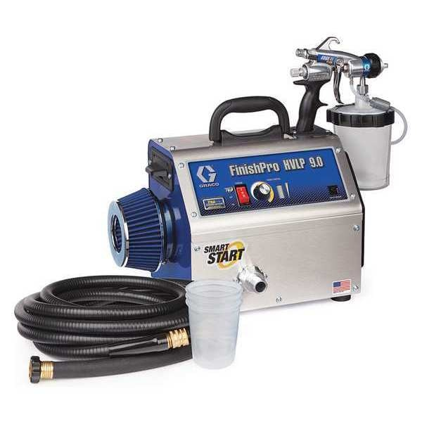 Graco HVLP Paint Sprayer, 4 Stages, 1 qt. Tank 17N266