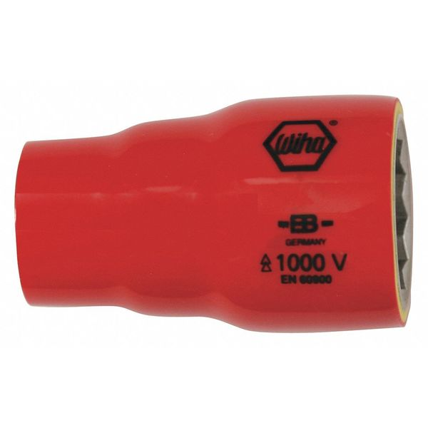"Wiha Tools 1/2"" Drive Insulated Socket 7/16 in ,  Hex ,  SAE 31707"
