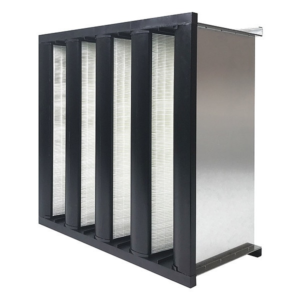 "Air Handler V-Bank Air Filter,  24x24x12"",  MERV 14 53TE88"