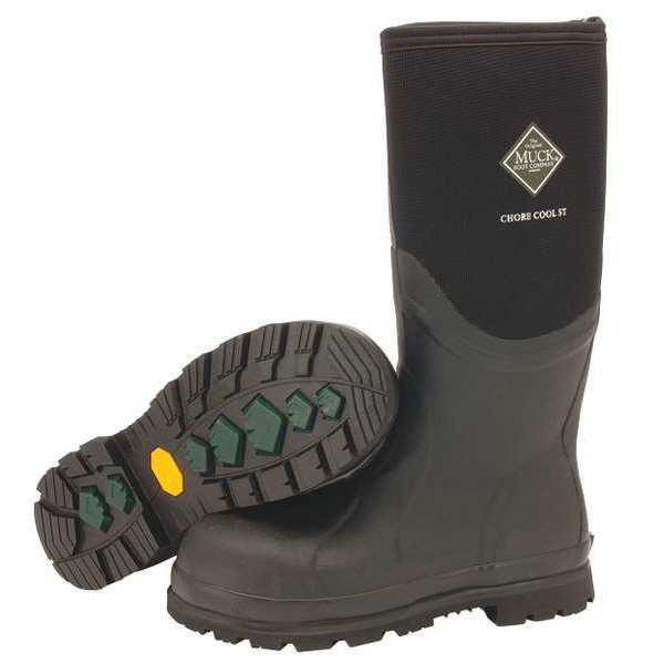 The Original Muck Boot Co. Size 13 Men's Steel Rubber Boot,  Black CSCT-000