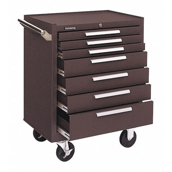 """Kennedy 27""""W Tool Cabinet 7 Drawers,  Brown,  18""""D x 35""""H 277XB"""