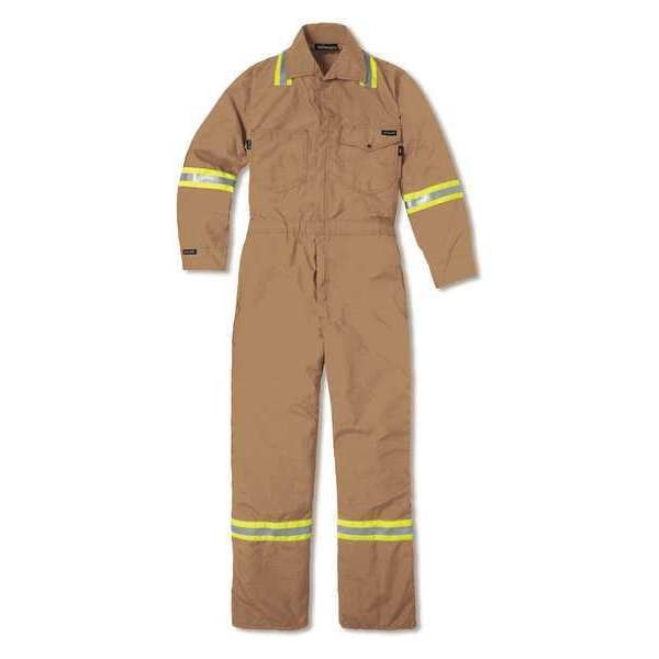 Workrite Fr Vented Industrial Coverall, 40 Regular 1934BR