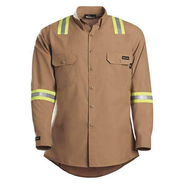 Workrite Fr FR Vented Shirt, 3XL Long 2934BR