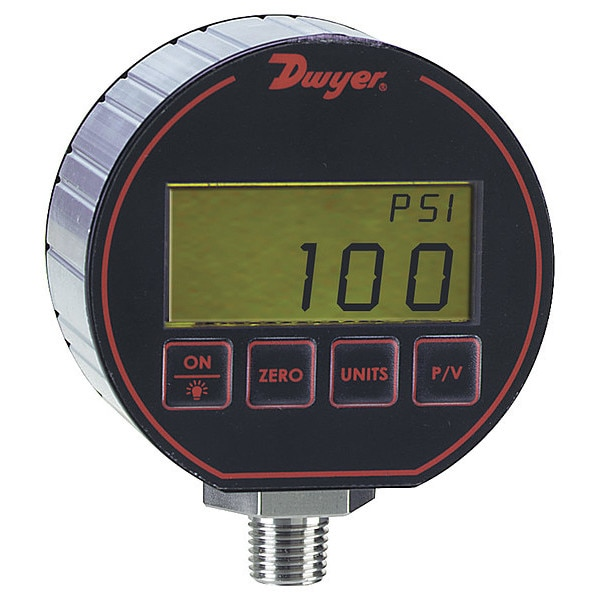 Dwyer Instruments Digital Pressure Gauge,  Range 0-30 Psi W DPG-103