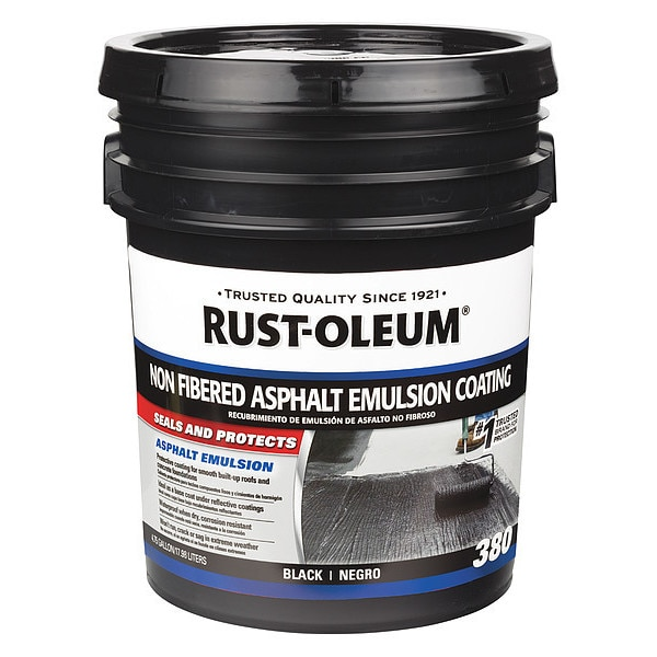 Rust-Oleum Roof Coating, 4.75 gal., Black 301998