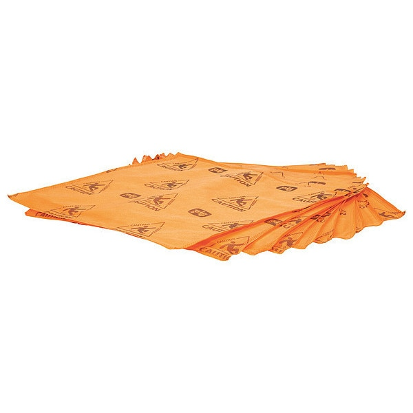 Pig Absorbent Pad,  Absorbs 10.6 gal. , Orange WTR004-OR