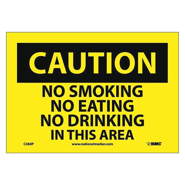 Nmc Caution No Smoking In This Area Sign C360P