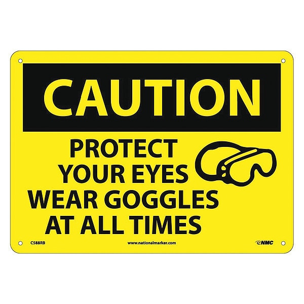 Nmc Caution Protect Your Eyes Sign C588RB