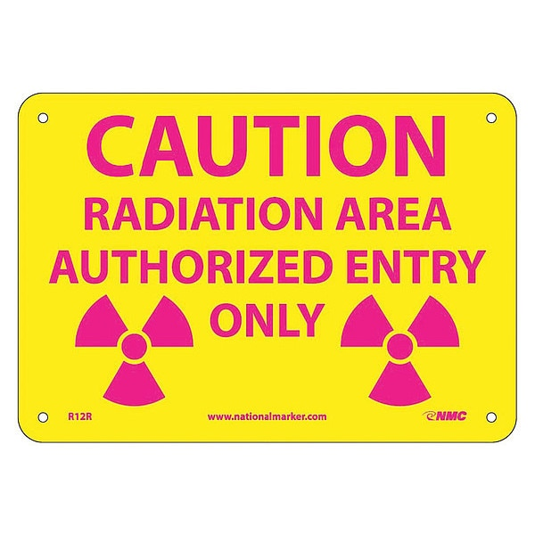 Nmc Caution Radiation Area Authorized Entry Only Sign R12R