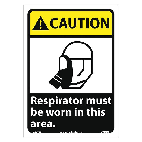 Nmc Caution Respirator Must Be Worn In This Area Sign CGA33PB