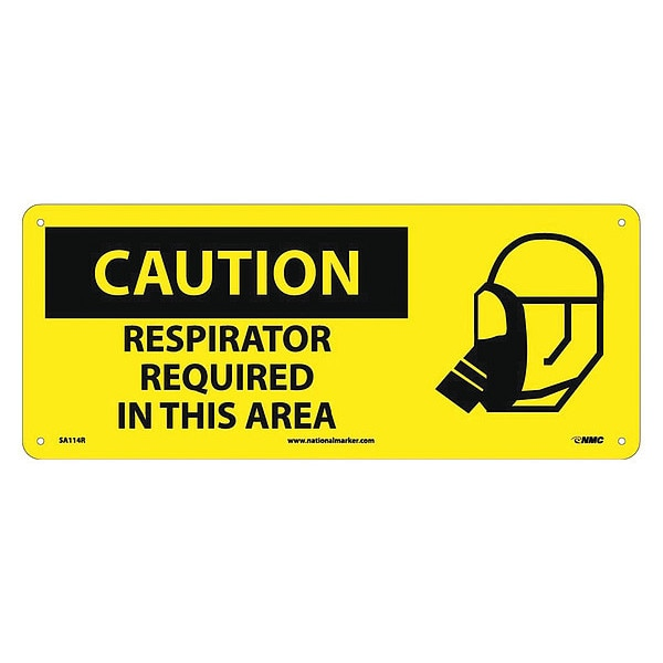 Nmc Caution Respirator Required In This Area Sign SA114R