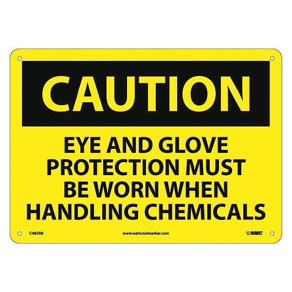 Nmc Caution Multi Protection Safety Sign C482RB