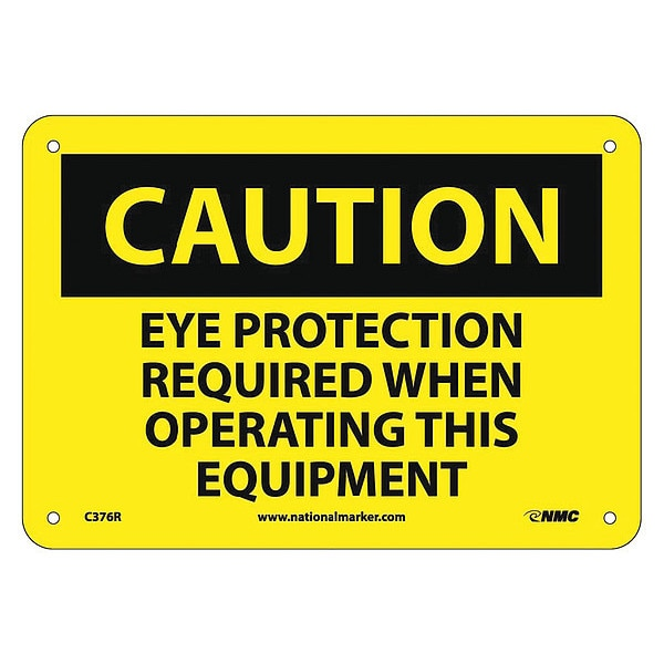 Nmc Caution Multi Protection Safety Sign C376R