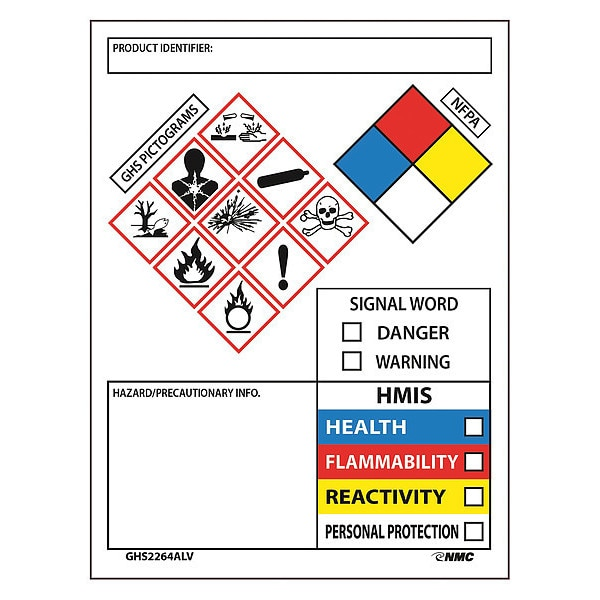 GHS Secondary Container Label Roll Of 50, 4