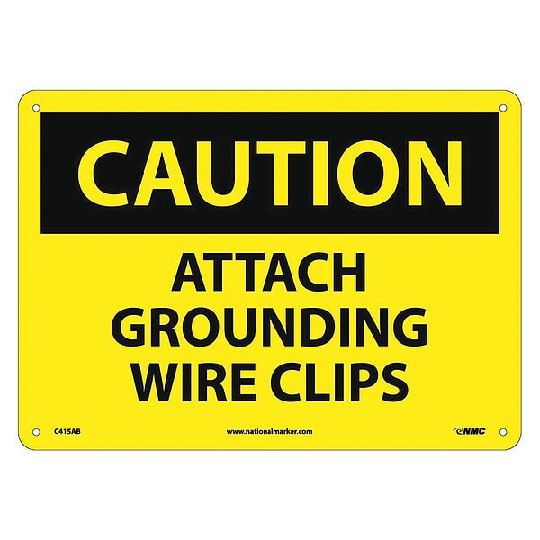 Nmc Attach Grounding Wire Clips Sign C415AB