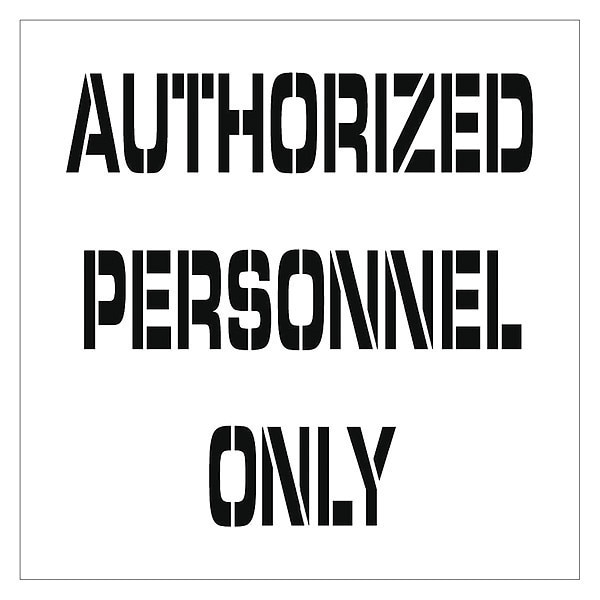 Nmc Authorized Personnel Only Plant Marking Stencil PMS222