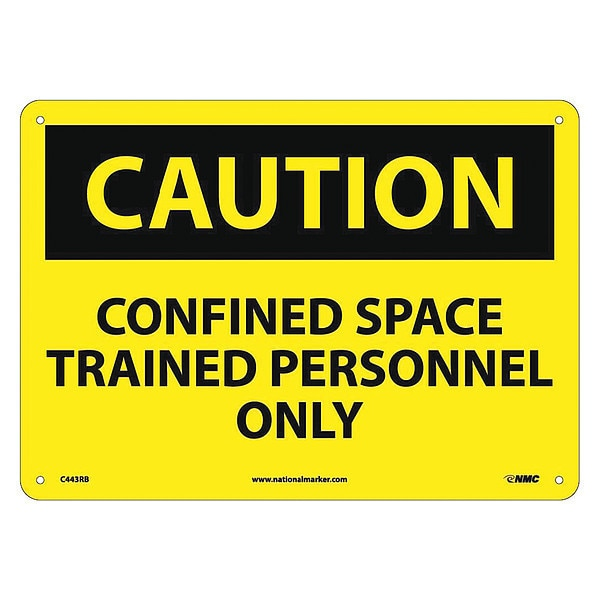 Nmc Caution Confined Space Trained Personnel Only Sign C443RB