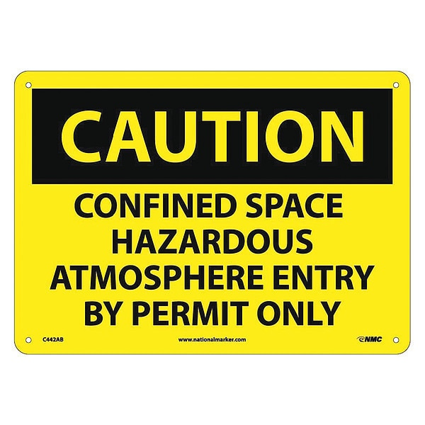 Nmc Caution Confined Space Permit Required Sign C442AB