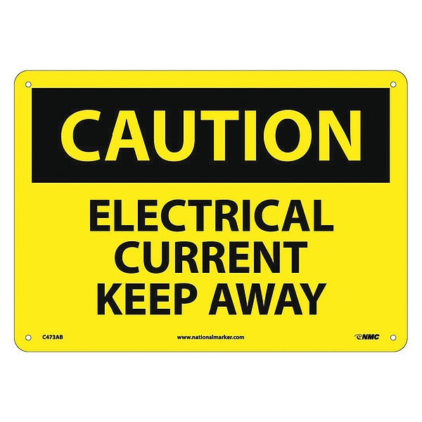 Nmc Caution Electrical Current Keep Away Sign C473AB