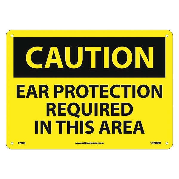 Nmc Caution Ear Protection Required In This Area Sign C73RB