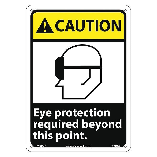 Nmc Caution Eye Protection Required Sign CGA26AB