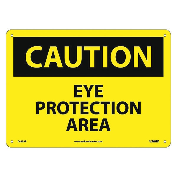Nmc Caution Eye Protection Area Sign C483AB