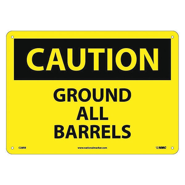 Nmc Caution Ground All Barrels Sign C28RB
