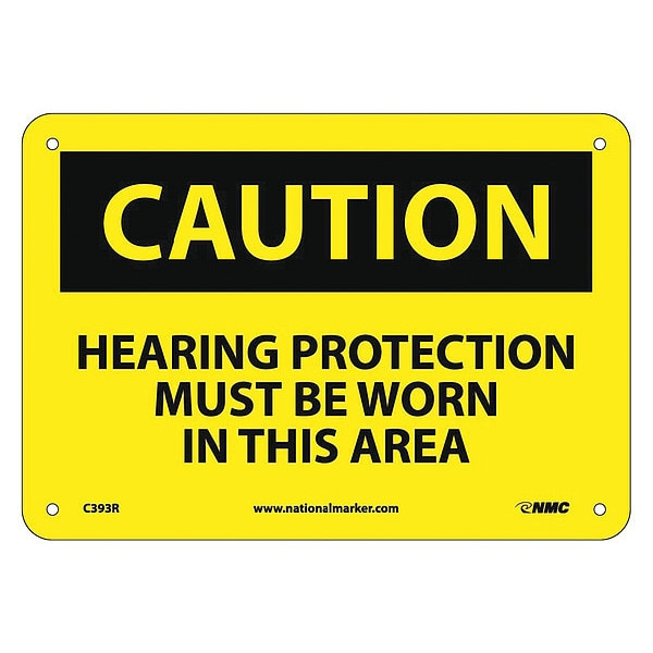 Nmc Caution Hearing Protection Must Be Worn Sign C393R