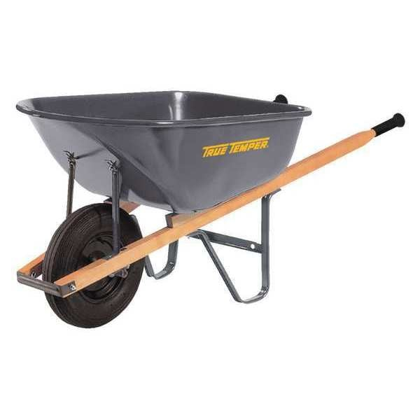 True Temper Steel Wheelbarrow, 6cu. ft. R6FF25