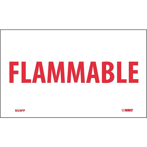 Nmc Flammable Sign M29PP