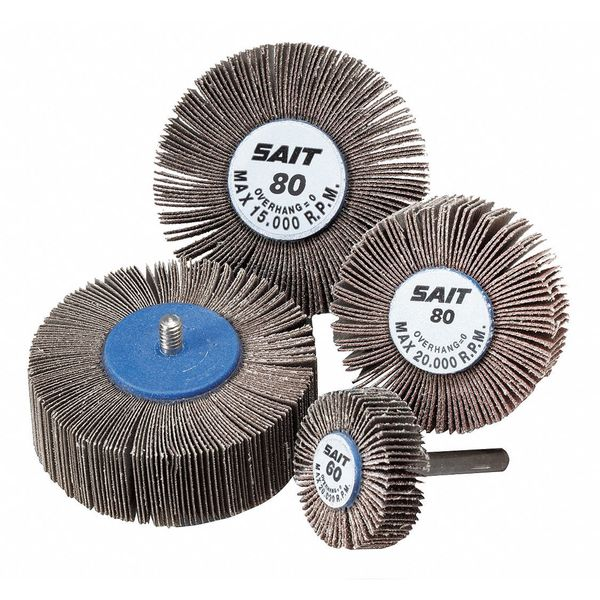 60X 1-1//2 x 1 x 1//4-20 10-Pack United Abrasives-SAIT 71030 2A Flap Wheel
