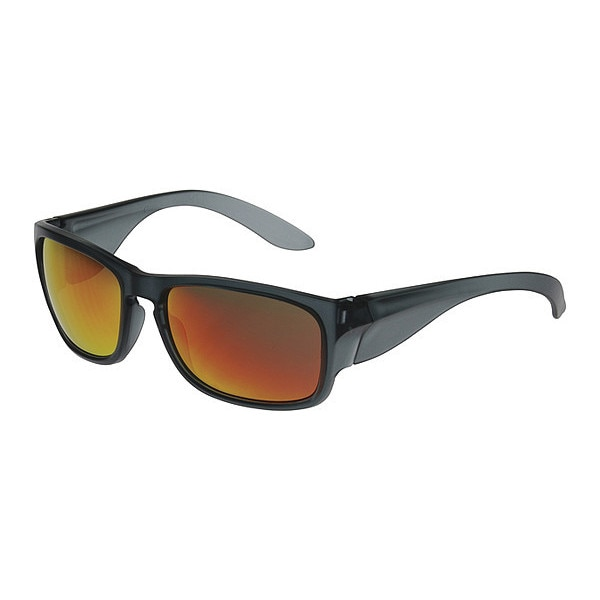 Pip Safety Glasses,  Red Mirror Scratch-Resistant 250-57-0004