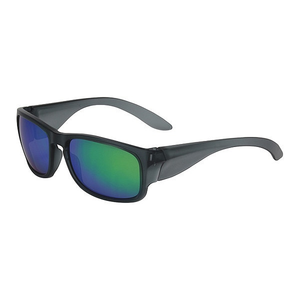Pip Safety Glasses,  Green Mirror Scratch-Resistant 250-57-0008