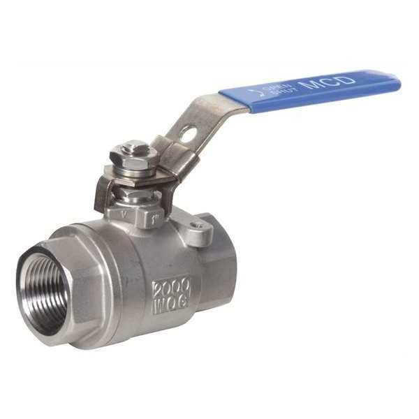 "Midwest Control 2"" FPT Stainless Steel Locking Ball Valve SSV-200"