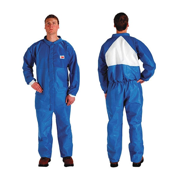 3M Protective Coverall, Disposable, M, PK25 4530CS-BLK-M