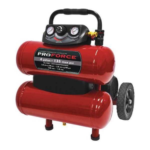 Proforce Dolly Style Air Compressor, 4gal., 135 psi VKF1080418