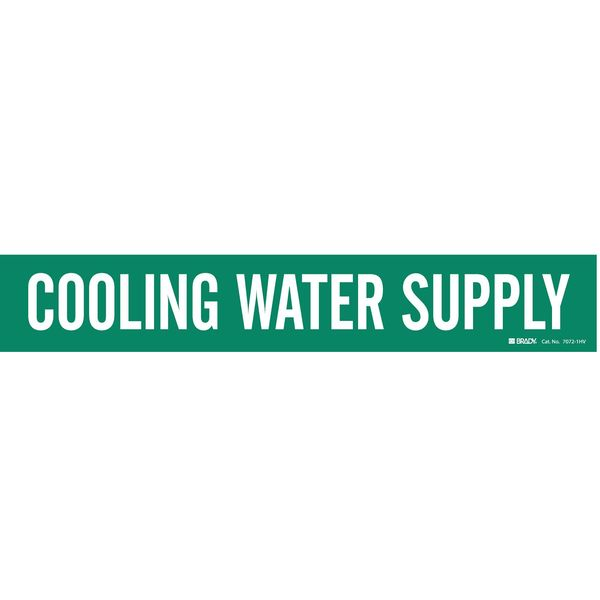 Brady Pipe Mkr, Cooling Water Supply, 8In orGrtr 7072-1HV