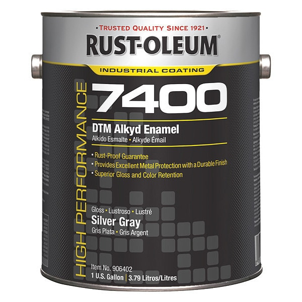 Rust-Oleum 1 gal. Silver Gray High Gloss Oil Interior/Exterior Paint 906402