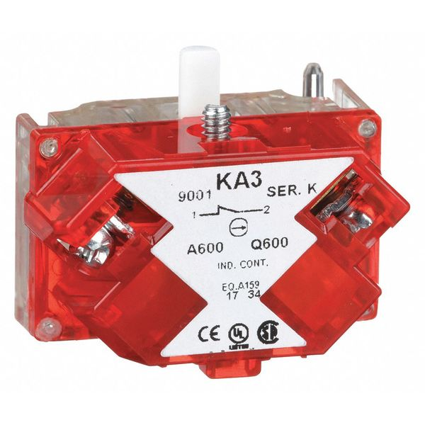 Schneider Electric 1NC Screw-Clamp with Red Cover Push Button Contact Block 9001KA3