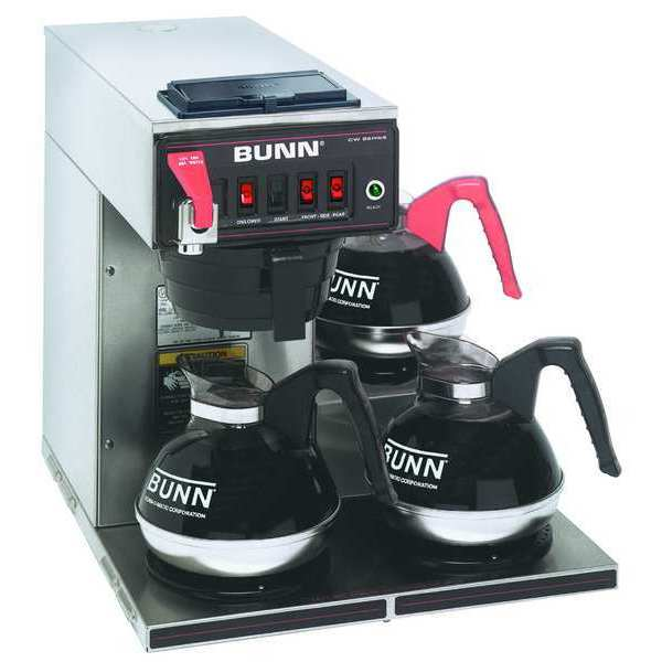 Bunn Stainless Steel 12 Cup,  3 Lower Warmers 64 oz. CWTF 15 - 3L