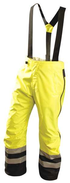 Occunomix Hi-Vis Breathable Rain Pants, Yellow, L SP-BRP-YL
