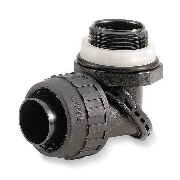 Hubbell Wiring Device-Kellems Insulated Connector, 1/2 In., Nylon, 90 Deg PS0509NBK