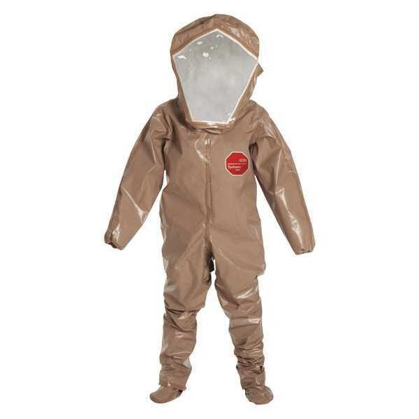 Dupont Encapsulated Suit,  Lvl B,  Rear Entry,  S,  PK6,  Inseam: 29 1/2 in C3528TTNSM000600