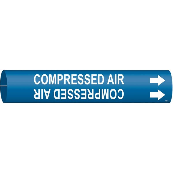 Brady Pipe Mrkr, Compressed Air, 1-1/2to2-3/8 In 4034-B